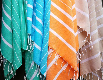 Turkish towel, towels, beach towel