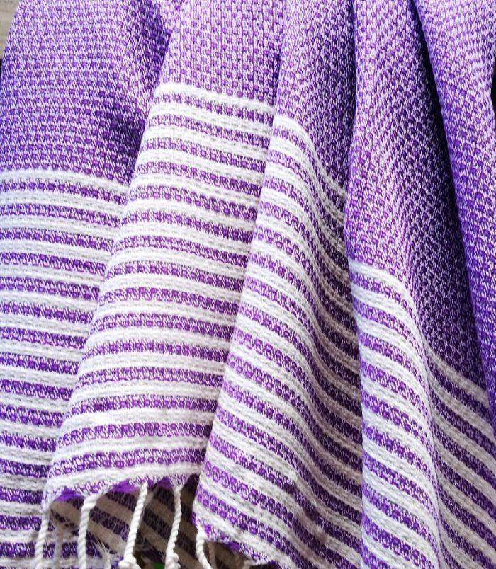 Stripy Purple Cropped