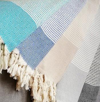 throw rug, throw, cotton throw, peshtemal, turkish,