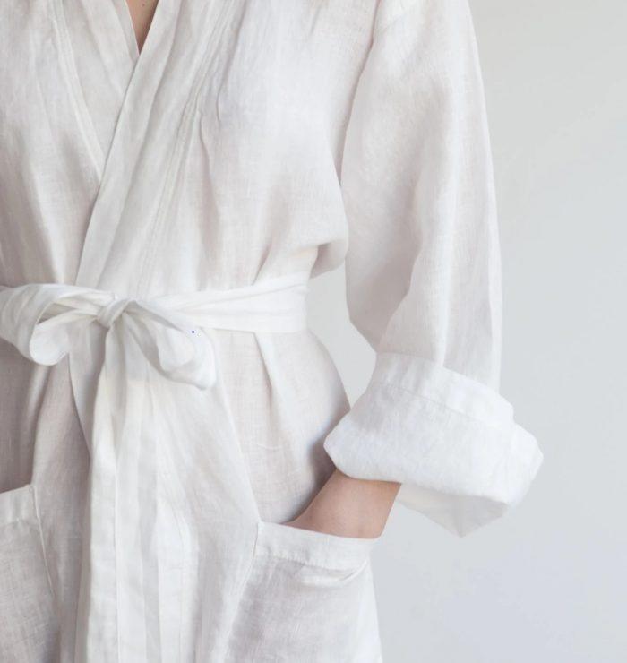 Linen Robe White