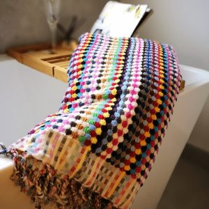 bath towel, large bath towel, turkish towel, pompom towel,