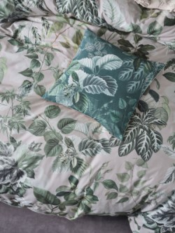cotton duvet cover set, cotton duvet cover, green duvet cover, forestry duvet cover